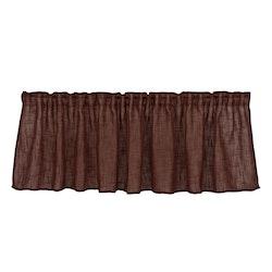 Uffe en färdigsydd gardinkappa med multiband. Färg: Rödbrun.
