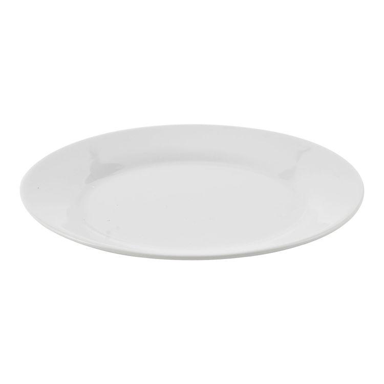 Epla en stilren assiett i vitt porslin. Färg: Vit.