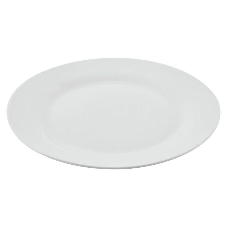 Epla en stilren tallrik i vitt porslin. Färg: Vit.