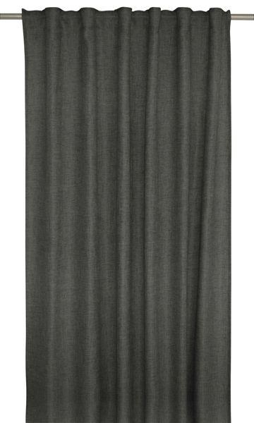 Marie ett mörkläggande gardinset i linnevävd polyester med multiband. Färg: Grå.