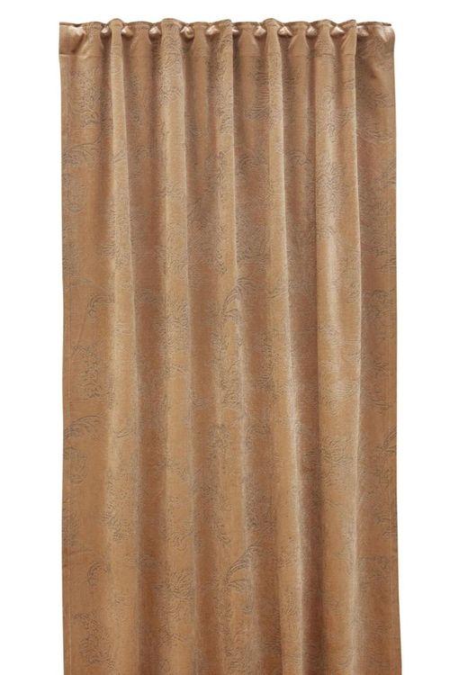 Roma paisley är en gardinlängd i sammet med multiband. Färg: Guld.