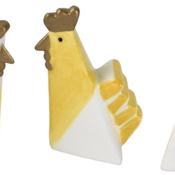 Hello Hen mini är ett 3 pack med moderna påskhönor från Cult design. Färg: Gul, vit och guld.