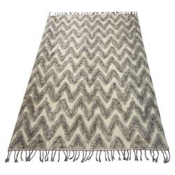 Teo en härlig ryamatta i bomull 160 x 230 cm. Färg: Vit och svart.
