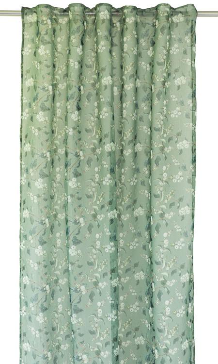Sorbus är ett skirt gardinset med multiband. Färg: Grön med vita bär.