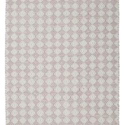 Temmy 70 x 140 cm en snygg bomullmatta med ett skönt mönster. Färg: Rosa och off-white.