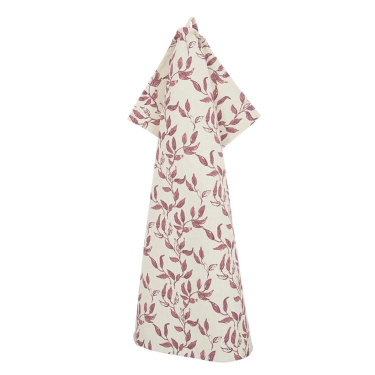 Helga en kökshandduk i 100% bomull. Färg: Off-white med röda blomslingor.