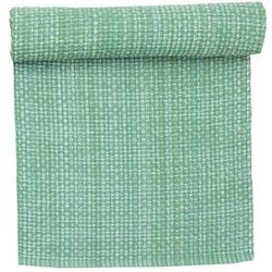 6419 är en grovt vävd bomullslöpare. Färg: Ljusgrön. Mått: 35 x 120 cm.