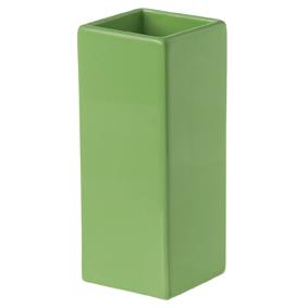 Kub Caddy multihållare för tand/diskborstar. Färg: Grön.