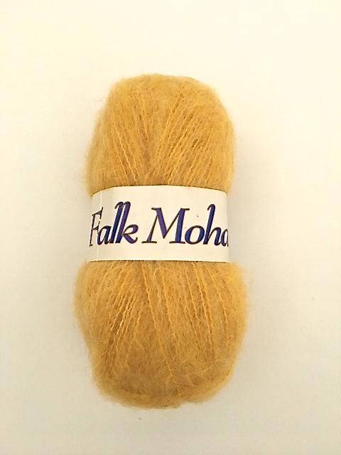 Falk mohair från Falk garn 50 gr. Färg: Gul.