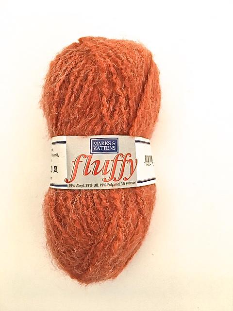 Fluffy från Marks & Kattens 50 gr. Färg: Rost.