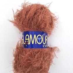 Glamour lyx från Falk garn 50 gr. Färg: Rost.