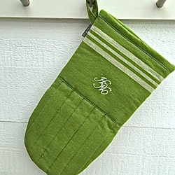 Bistro en grytlapp i 100% bomull med stor ¨tumme¨. Färg: Grön och vit.