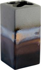 Tandborsthållare Cube mineral från Cult design. Färg: Grå med brända bruna,vita och blå stänk.