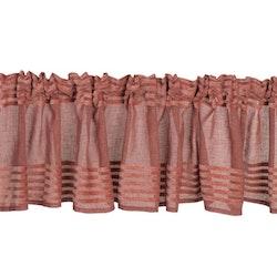 Anna en färdigsydd gardinkappa med multiband från Noble house. Färg: Tegelrosa.