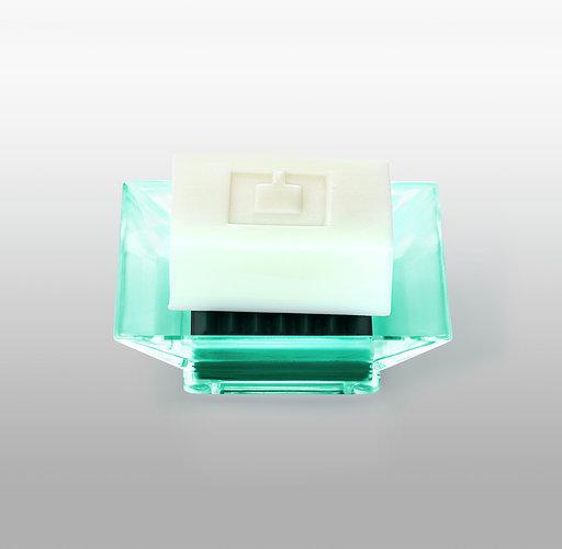 Tvålkopp från Cult design. Färg: Jade transparent.