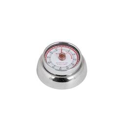 Timer/äggklocka från DULTON CO.,LTD med magnet. Färg: Stål.