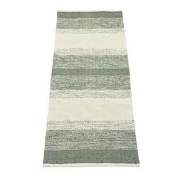 Sandra 70 x 200 cm en snygg bomullmatta med ett skönt mönster. Färg: Grön och off-white.