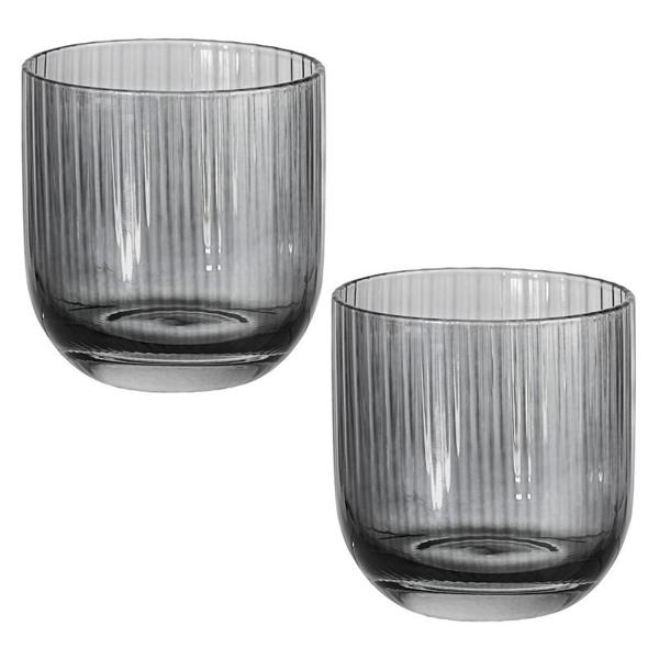 Online miniglas i tvåpack från Cult design. Färg: Asphalt.
