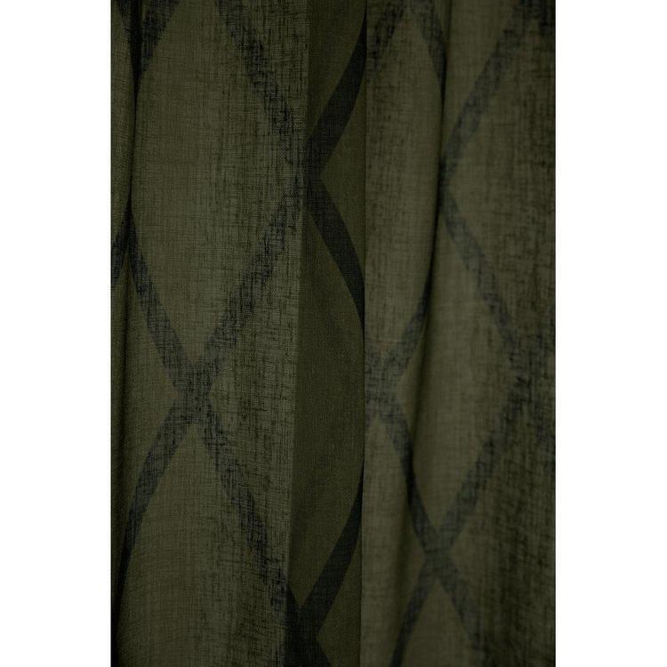 Cross är ett gardinset med multiband, art.nr 9409-20-077. Färg: Grön med svarta rutor.