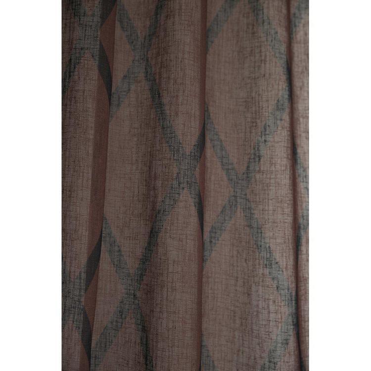 Cross är ett gardinset med multiband, art.nr 9409-20-006. Färg: Rost med svarta rutor.