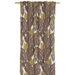 Växande är ett underbart höstfärgat gardinset med multiband, art.nr 9793-20-187. Färg: Vit botten med härliga rost, gula och lila toner.