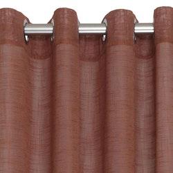 Pastell en öljettkappa i linnevävd polyester, art.nr 7615-57-034. Färg: Rost.