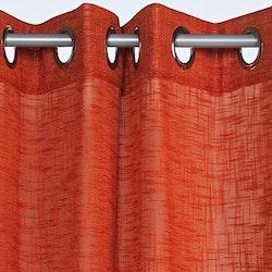 Pastell en öljettkappa i linnevävd polyester, art.nr 7615-57-334. Färg: Orange.