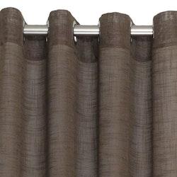 Pastell en öljettkappa i linnevävd polyester, art.nr 7615-57-066. Färg: Brun.