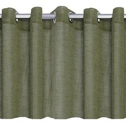Pastell en öljettkappa i linnevävd polyester, art.nr 7615-57-077. Färg: Grön.