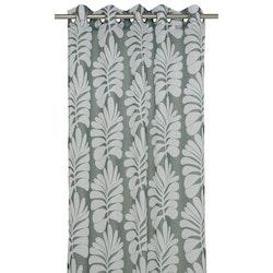 Storm ett gardinset med öljetter, art.nr 9270-17-007. Färg: Grön och vit.