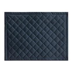 Quilty en lyxig tablett i sammet, art.nr 9859-82-088. Färg: Mörkblå.