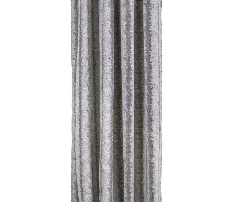 Skiftning ett gardinset med multiband från Boel & Jan. Färg: Gråa toner. Mått 2 x 140 x 240 cm.