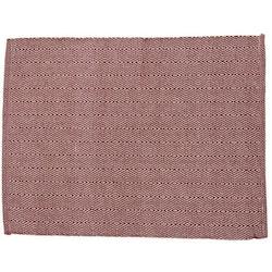 Stina en tablett med ett gåsögamönster i bomull, art.nr 7728-82-006. Färg: Rost och vit.