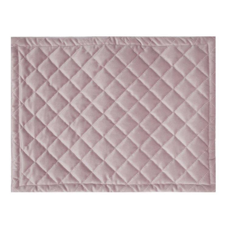 Quilty en lyxig tablett i sammet, art.nr 9859-82-005. Färg: Rosa.