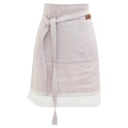 Wavelvet ett förkläde i bomull. Färg: Ljusrosa och vitt. Mått: 50 x 70 cm. Material: 100% bomull.