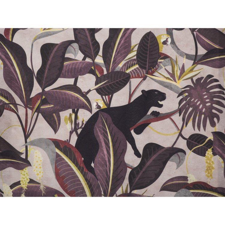Panther ett underbart gardinset med multiband, art.nr 9829-20-123. Färg: Multifärgad med rosa, svart, vinrött, gult mm.