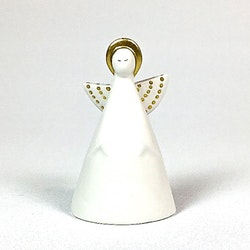 Angelina miniängel 2 från Cult design. Färg: Vit med gulddekor.