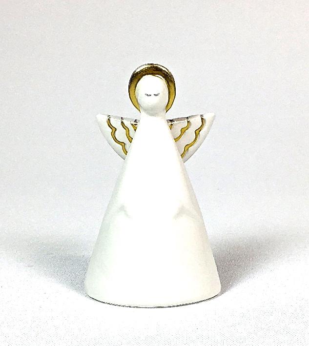 Angelina miniängel 3 från Cult design. Färg: Vit med gulddekor.