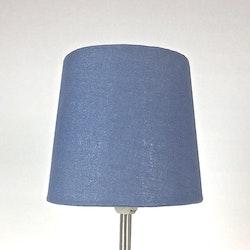 Enkel en lampskärm med klämfäste. Färg: Blå.