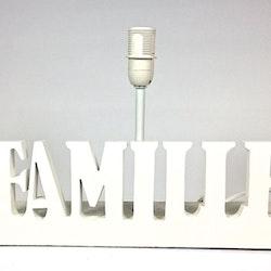 Familie en lampfot med E14 sockel. Färg: Vit.