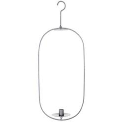 Tord en hängande ljusstake med manchett. Färg: Grå metall.
