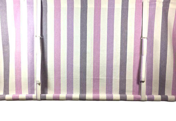 REA! Knythissgardin Färg: Ränder i vitt, rosa och lila.