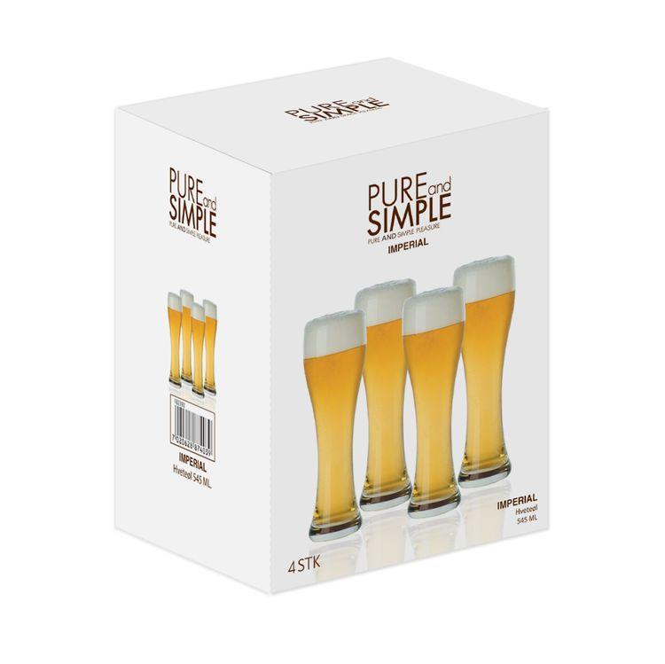 Pure and simple 4 pack med ölglas från Modern house.