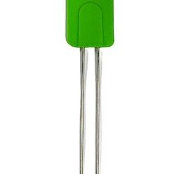 Slickepott i silikon med stålhandtag. Färg: Grön.