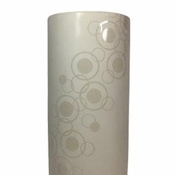 Cylindervas/kruka i ett ringmönster. Färg: Beige.