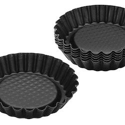 6 st Tartelettformar/formar till minipajer från tyska Zenker. Färg: Svart.