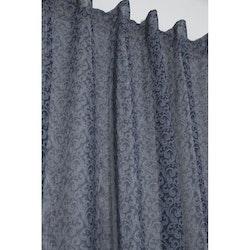 Telly ett skönt gardinset med multiband, 9662-20-008 Färg: Blått med et vitt mönster.