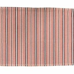 Alsvik en ripstablett i bomull från Gripsholm. Färg: Rosa med vita och vinröda ränder.