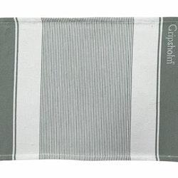 Stripe en tablett i bomull från Gripsholm. Färg: Grå och vit.