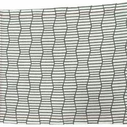 Secsession brick en tablett i bomull. Färg: Vit med ett grått mönster.